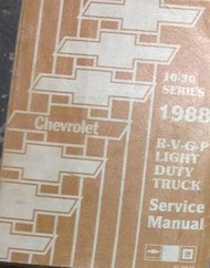 1988 Chevy RVGP R V G P TRUCK Service Shop Repair Manual FACTORY DEALERSHIP OEM