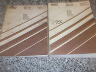 1982 Chrysler Cordoba Service Shop Repair Manual Set OEM FACTORY