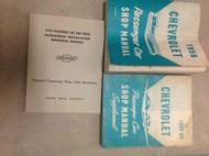 1958 CHEVY CHEVROLET CAR Service Shop Repair Manual SET W SUPPLEMENT & INSTAL BK