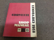 1981 Chevrolet CHEVY CORVETTE Service Repair Shop Manual FACTORY DEALERSHIP x