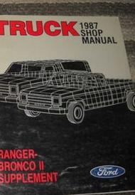 1987 FORD RANGER & BRONCO II TRUCK Service Shop Repair Manual SUPPLEMENT OEM