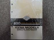 2000 Harley Davidson Dyna Models Parts Catalog Manual FACTORY OEM BOOK BOOK X