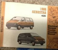 1986 FORD AEROSTAR Electrical & Vacuum Troubleshooting Wiring Diagrams Manual