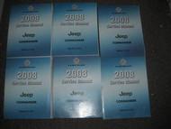 2008 JEEP COMMANDER Service Repair Shop Manual Set OEM DEALERSHIP 08 BOOKS