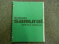 1980s Suzuki Samurai Service Repair Shop Manual FACTORY OEM BOOK 80s DEAL