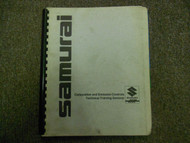 1980s Suzuki Samurai Carburetion Emission Technical Training Seminar Manual 80s