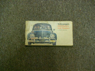1960s 1970s Volkswagen Distributors and Dealers North America Booklet DAMAGED