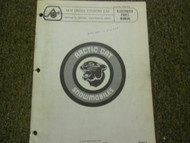1976 Arctic Cat Cross Country Cat Illustrated Service Parts Catalog Manual OEM x