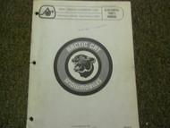 1976 Arctic Cat Cross Country Cat Illustrated Service Parts Catalog Manual OEM x