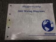 2001 FORD WINDSTAR Van Wiring Electrical Diagrams Service Shop Repair Manual EWD