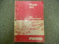 1979 79 MAZDA GLC Service Repair Shop Manual FACTORY OEM BOOK 79 RARE WORN