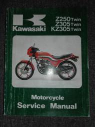 1979-1989 Kawasaki Z250 Z305 KZ305 Twin Service Repair Shop Manual OEM FACTORY x