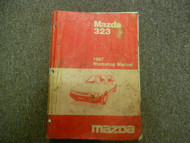 1987 Mazda 323 Service Repair Shop Manual WATER DAMAGE FACTORY OEM BOOK 87