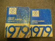 1979 BUICK Chassis All Series Service Manual FACTORY OEM 2 VOLUME SET WORN