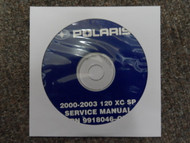 2000 2001 2002 2003 POLARIS 120 XC SP Service Repair Shop Manual CD FACTORY OEM