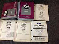 1997 Ford Mustang Gt Cobra Service Shop Manual Set OEM W EVTM + BULLETINS