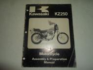 1980 Kawasaki KZ250 Motorcycle Assembly & Preparation Manual MINOR WEAR FACTORY