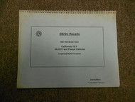 1990 1992 VW SB SC Recall GLI GTI Passat Vehicles Work Procedure Manual 2ND EDIT