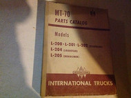 International TRUCKS IHC MT-70 MT70 Parts Catalog Manual L-200 L201 L202 204 205