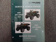 2001 Polaris Xplorer 400 4x4 Service Repair Shop Manual FACTORY OEM BOOK 01 X