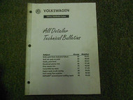 1990 1995 Volkswagen All Detailer Technical Bulletins Service Manual FACTORY OEM