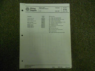 1986 1987 VW Cabriolet Stereo Radio Power Antenna Wiring Diagram Service Manual