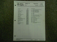 1986 1987 VW Vanagon Syncro Auxiliary Heater BBW Wiring Diagram Service Manual