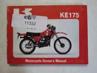 1981 Kawasaki KE175 Motorcycle Owner's Manual KAWASAKI KE175 OEM USED