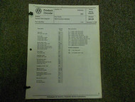 1985 VW Scirocco Function Indicator Cruise Control Wiring Diagram Service Manual