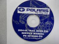 2004 2005 POLARIS TRAIL BOSS 330 Service Repair Shop Manual CD FACTORY x 04 05
