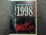 1998 Harley Davidson Softail Models Parts Catalog Manual FACTORY OEM BOOK USED x