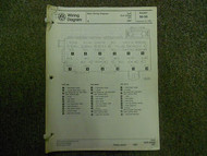 1987 VW GOLF Diesel GTI Main Wiring Diagram Service Repair Shop Manual FACTORY