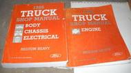 1986 FORD HEAVY & MEDIUM Duty Truck Service Shop Manual Set OEM DEALERSHIP HUGE