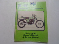 1981 Kawasaki KDX420-B1 Owners Manual & Service Manual WATER DAMAGED FACTORY OEM