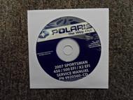 2007 POLARIS Sportman 450 500 X2 EFI Service Repair Shop Manual CD FACTORY OEM X