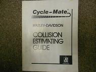 2002 Harley Davidson Collision Estimating Guide Servcie Repair Shop Manual 02 x