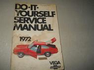 1972 CHEVY VEGA Factory Owners Manual OEM FACTORY BOOK 72 CHEVY VEGA CHEVROLET
