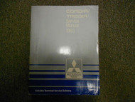 1983 MITSUBISHI Cordia Tredia Service Repair Shop Manual FACTORY OEM BOOK 83