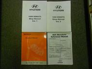 1999 HYUNDAI SONATA Service Repair Shop Manual 4 VOL SET OEM BOOK 99 DEAL HUGE