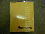 1992 HYUNDAI Scoupe Service Repair Shop Manual VOL 1 FACTORY OEM BOOK 92 DEAL