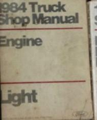 1984 Ford F-150 F150 250 350 F350 Bronco Truck Engine Service Shop Manual OEM