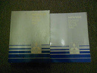 1985 MITSUBISHI Mirage Service Repair Shop Manual 2 VOL SET OEM BOOK 85 FACTORY