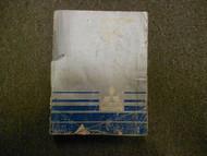 1987 MITSUBISHI Mirage Service Repair Shop Manual Volume 1 Engine Body BOOK 87