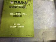1972 1973 1974 YAMAHA ENDUROS 100CC 175CC DT100A DT125A 175 Shop Service Manual