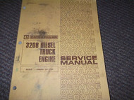 CATERPILLAR 3208 DIESEL TRUCK ENGINE Service Shop Manual SERIAL NUMBERS 32Y 1-UP