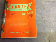 1971 1972 1973 YAMAHA YZ80A YZ 80 A PARTS LIST CATALOG OEM FACTORY Manual RARE
