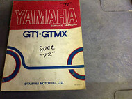 1971 1972 1973 YAMAHA GT1 GT 1 GMX Shop Service Repair Manual OEM DAMAGED RARE