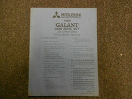 1989 MITSUBISHI Galant Air Conditioner Instalation Service Shop Manual OEM 89