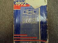 1992 GMC SAVANA CHEVY EXPRESS G Van Shop Service Repair Manual OEM BOOK DAMAGED