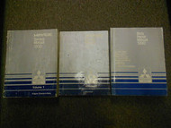 1990 MITSUBISHI Mirage Service Repair Shop Manual 3 VOL SET FACTORY OEM BOOK 90